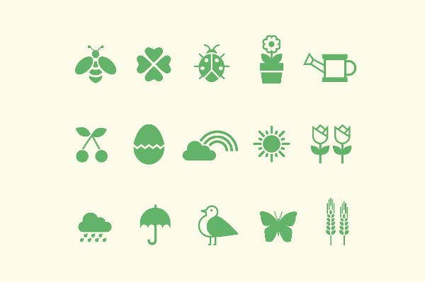 spring-nature-icons