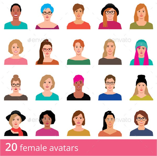 Women Avatar Icons