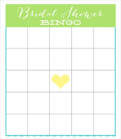 Free Bingo Bridal Card