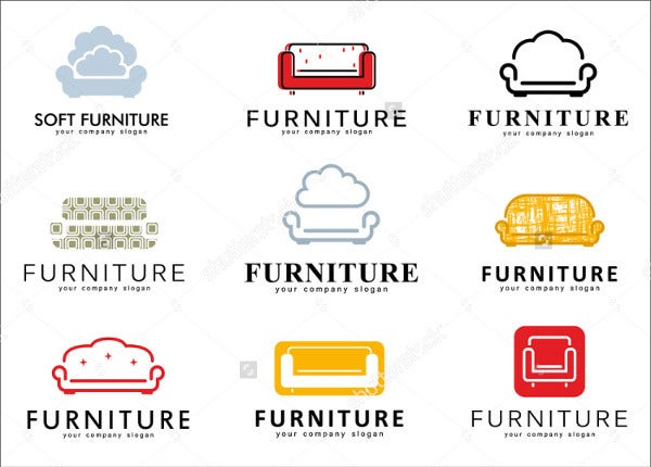 Set of Logos for Furniture Store