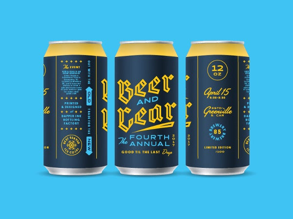 Beer & Gear Packaging Typography