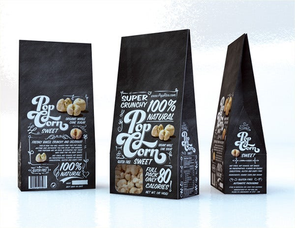 Popcorn Packaging Typography