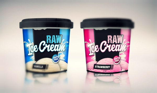 Raw Ice Cream Packaging