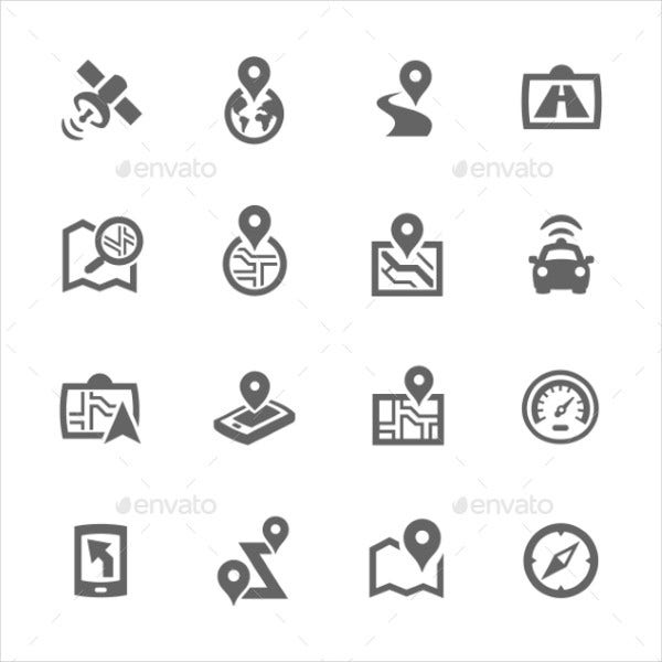 Satellite Navigation Icons