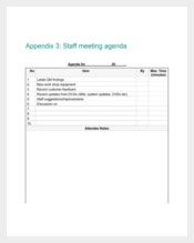 Appendix Staff Meeting Agenda