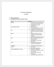 Core Team Meeting Agenda