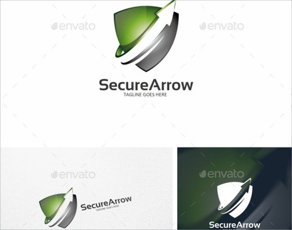 secure arrow logo template