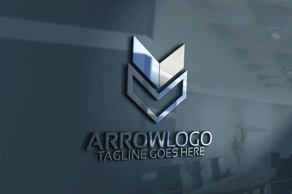 professional arrow logo