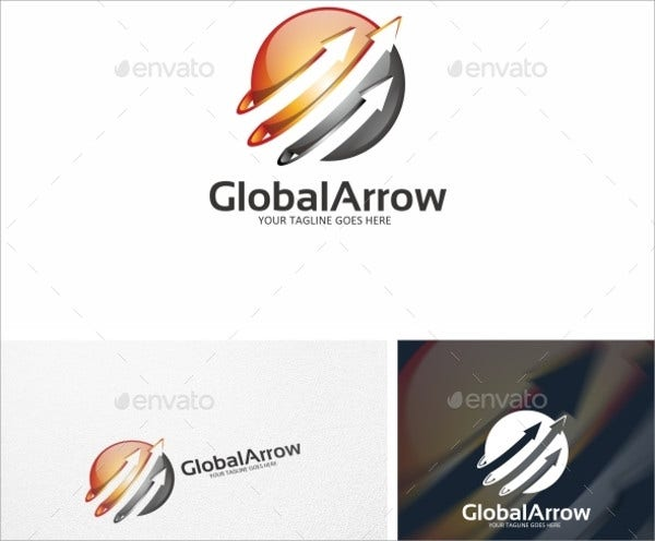global arrow logo template