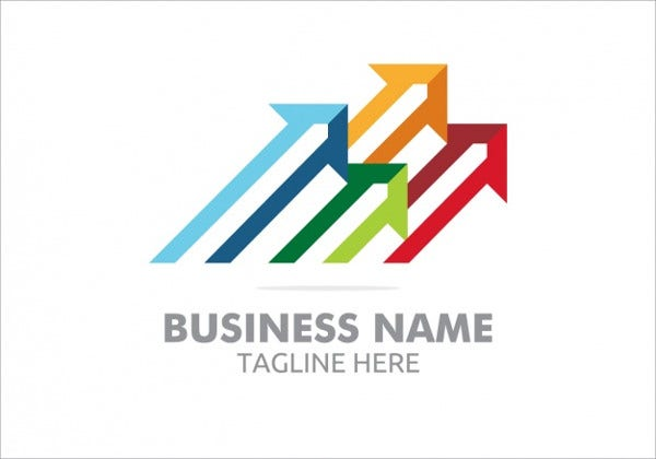 free business arrow logo