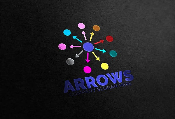 abstract arrows logo