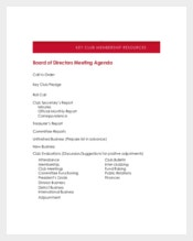 Board Of Directors Meeting Agenda Template for Business