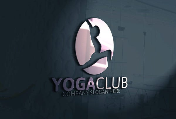 Abstract Yoga Club Logo