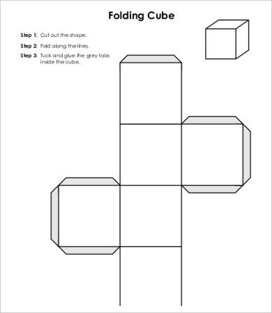 Cube Template   Free Pdf Documents Download  Free  Premium