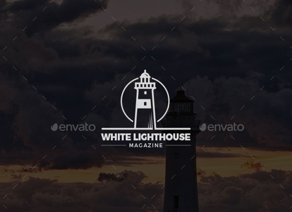 Modern Lighthouse Logo