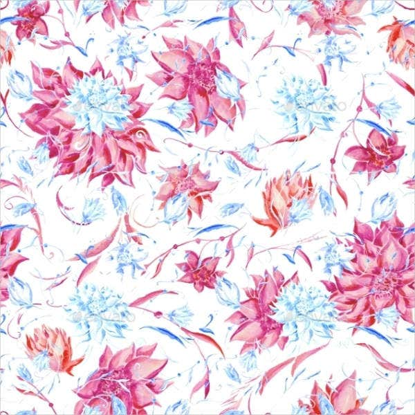 blue pink watercolor pattern