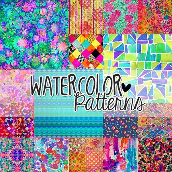 free watercolor pattern
