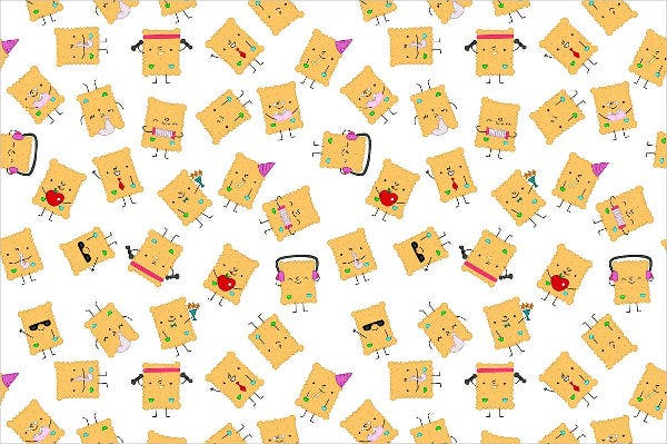 Cartoon Cookie Pattern