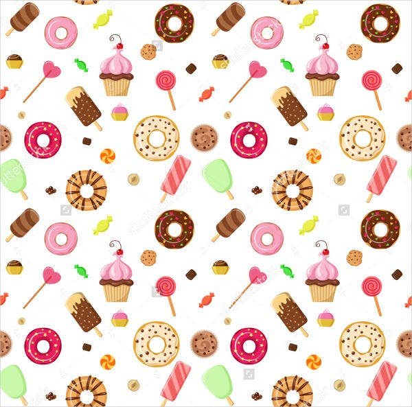 Ice Cream Donut Cookie Pattern