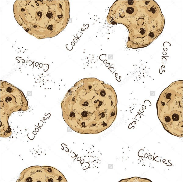 Seamless Doodle Cookies Pattern