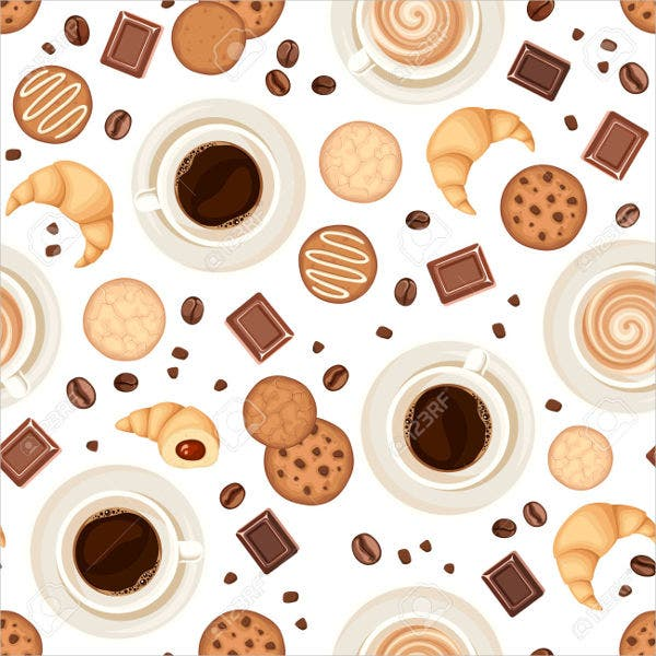 Vector Cookies & Coffee cup Pattern