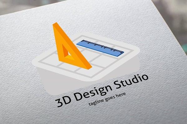 3d design studio logo