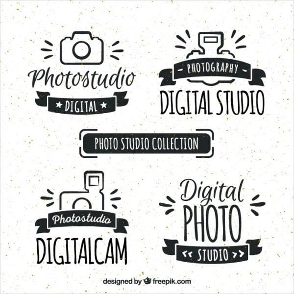 hand drawn digital studio logo