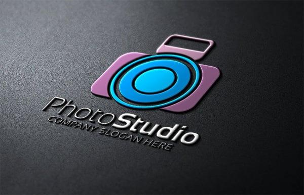 minimalist photo studio logo