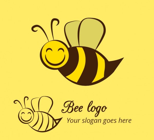 Free Honey Bee Logo Design