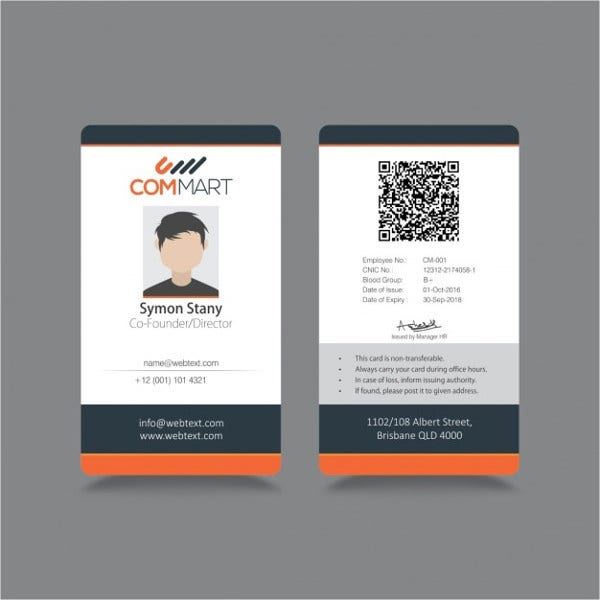 id badge templates free sample example format download free premium templates. Black Bedroom Furniture Sets. Home Design Ideas