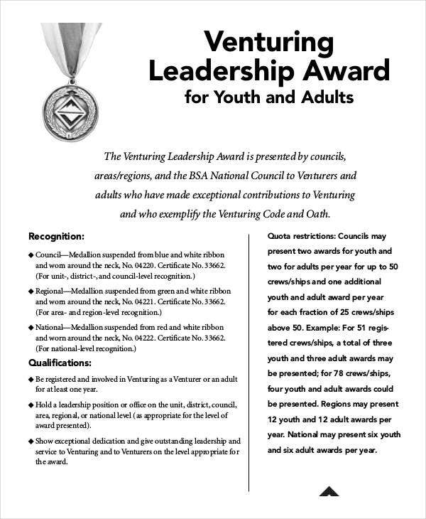 Leadership Award Templates 9 Free PDF Documents Download – Oath of Office Template