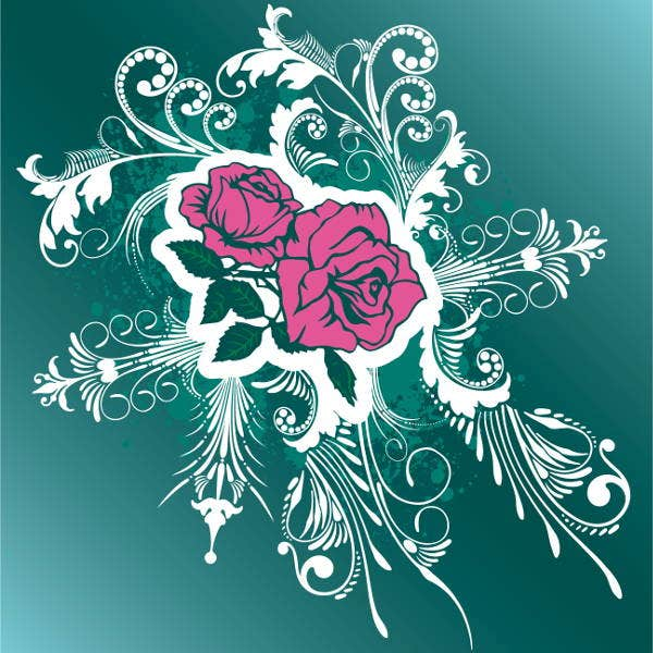 rose-pattern-vector