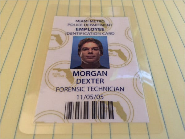 Id badge templates free sample example format download for Staff id badge template