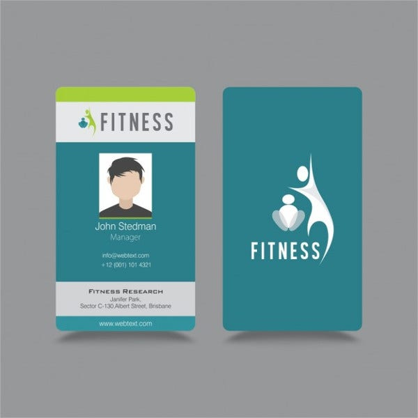 Corporate Id Badge Template
