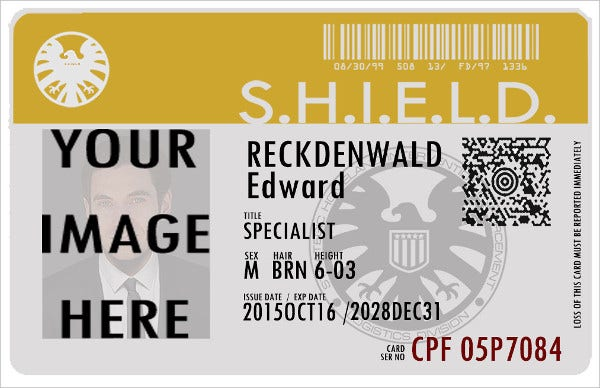 Shield Id Badge Template