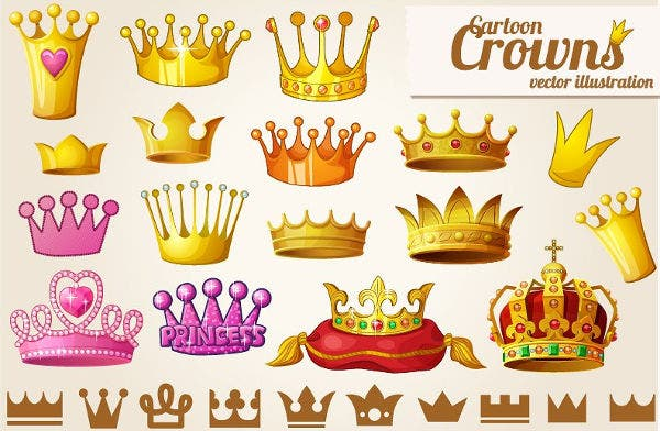 Golden Crown Icons