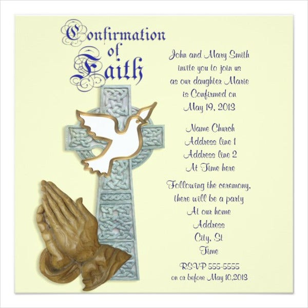Catholic Confirmation Invitation