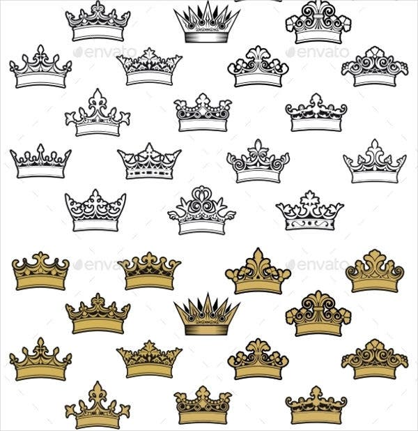 Antique Crown Icons