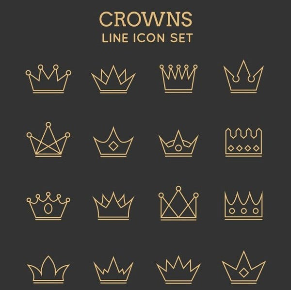 crown line icons