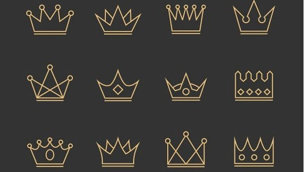 set of crown icons pack