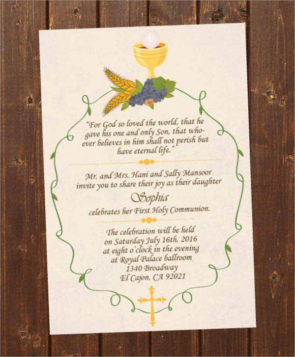 Holy Confirmation Invitation Template