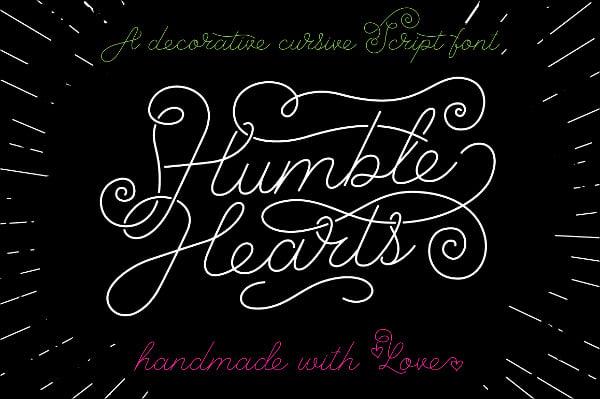 Humble Heart Script Font