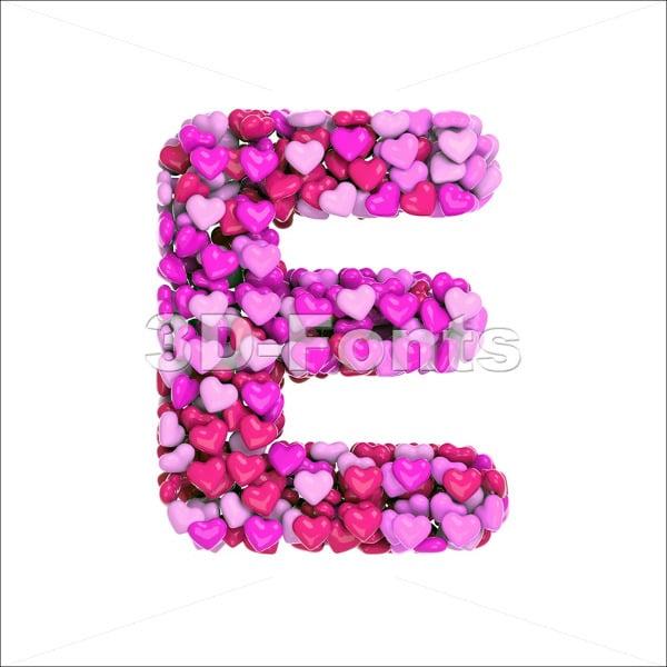 3D Heart Font