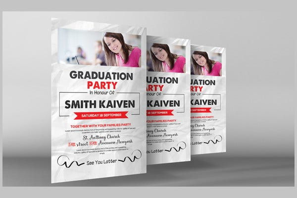 Free Graduation Invitation PSD
