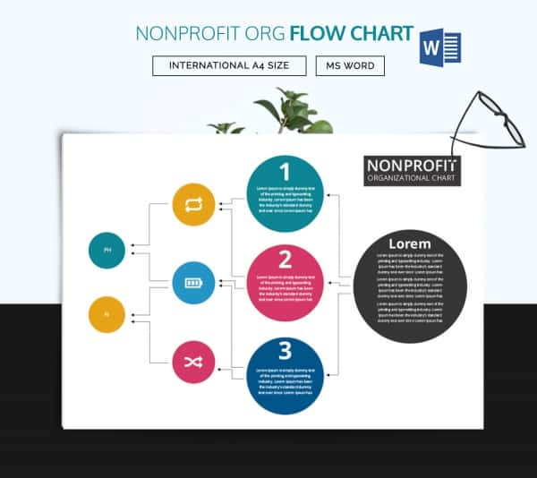 Non Profit Organizational Flow Chart Template  Organizational Flow Chart Template Word
