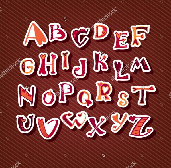 love-alphabet-font