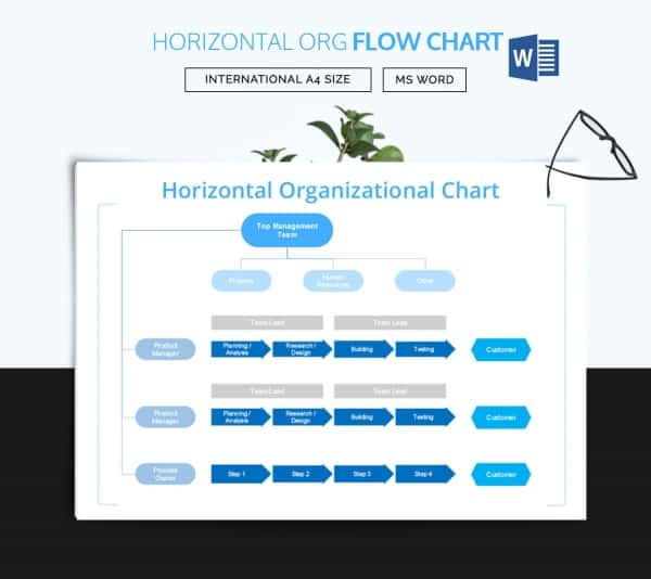Horizontal Organizational Flow Chart