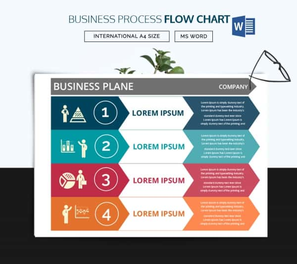 Business Plan Flow Chart Word Template  Process Flow Chart Template Word