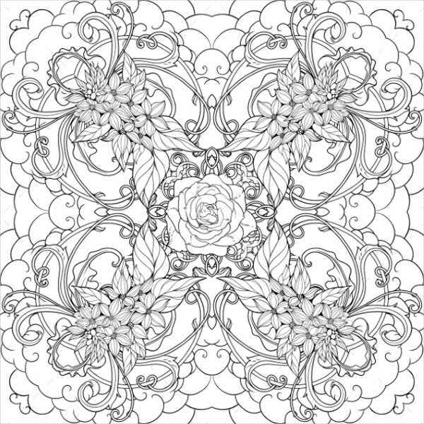 Flower Coloring Pages For Adult