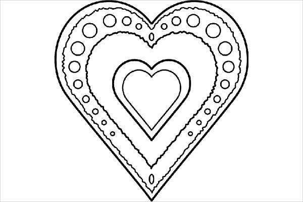 Cool Valentine Coloring Page
